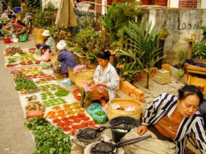Laos, wet market, south east asia,