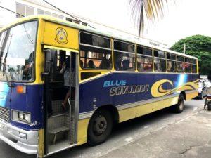 Bus, transport, Mauritius, Flic en Flac, transportation in Mauritius