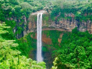 Chamarel falls, water fall, Mauritius, nature