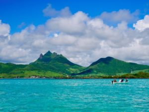Tropical Island, Mauritius, Ile aux Cerfs, tropical, fischermen, mountains, ocean,