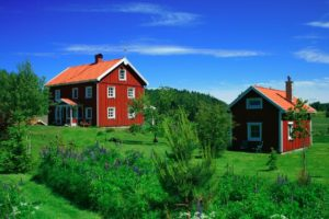 Sweden, red coloured house, Småland, passportplease