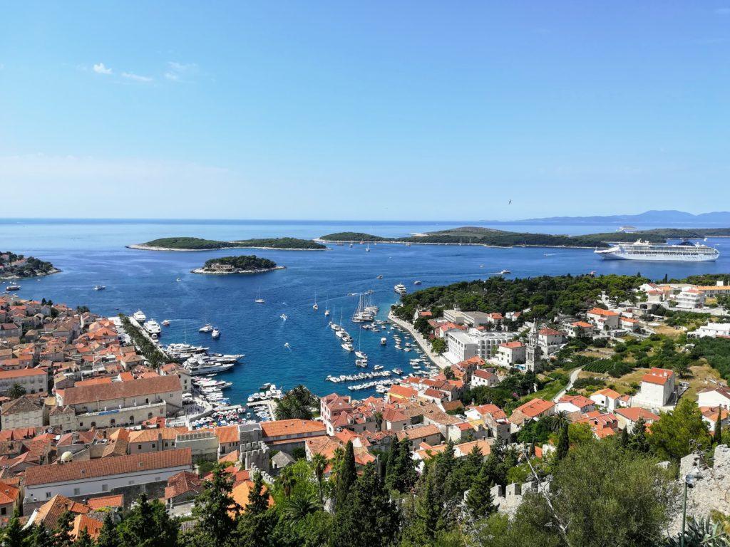 Venetian fort, Spanjola, view-point, view, Pakleni, Pakleni Island, old town, Hvar, Hvar town, rooftops, Europe, Mediterranean, Adria, beautiful
