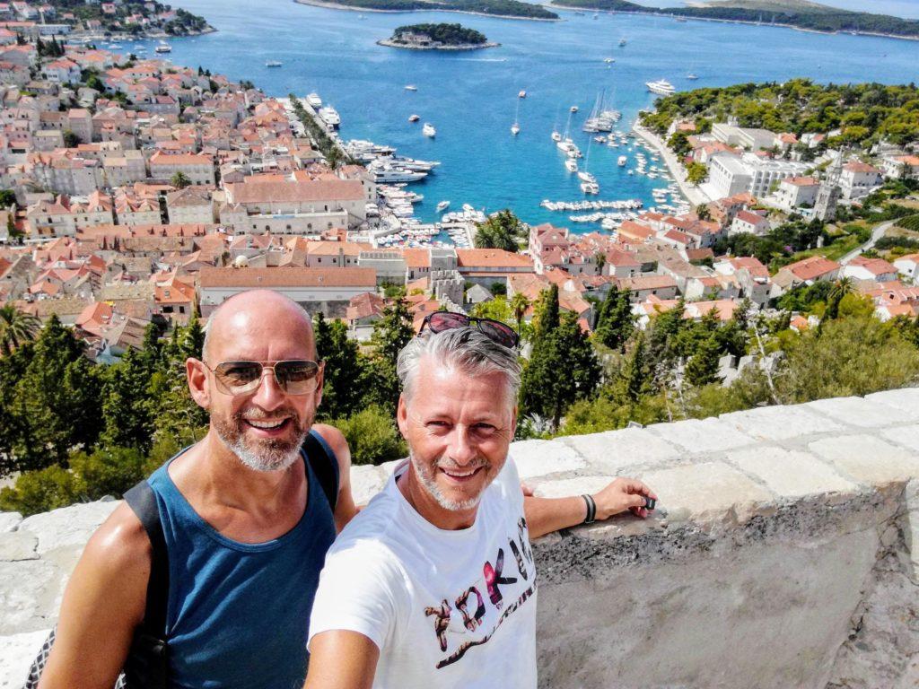 View-point, view, Spanjola, landmark, Hvar, Croatia, Hvar town, Pakleni, up-hill, Mediterranean, Adria