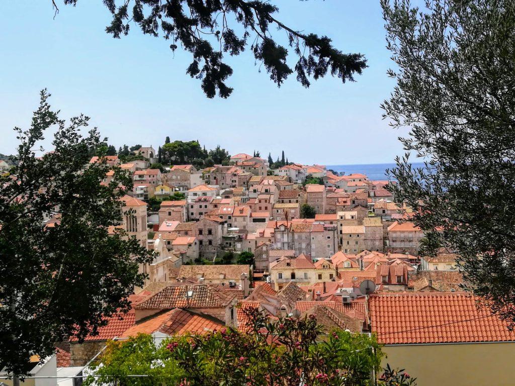 Redtiles, roof-tops, Hvar town, Hvar, old town, Croatia, Europe,