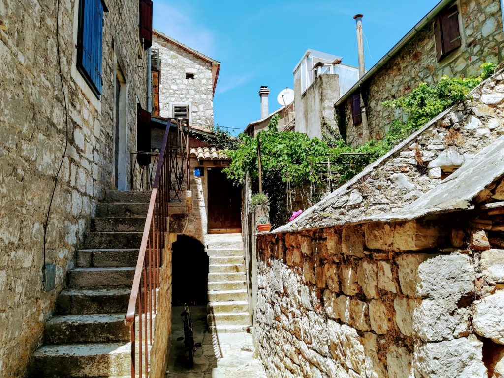 Town-house, stone house, old house, Stari Grad, typical, Hvar, Croatia, Balkan