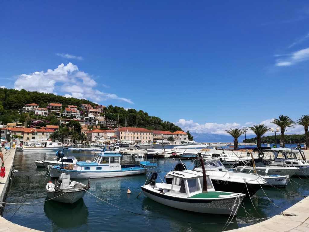Hvar, Jelsa, Jelsa harbour, small boats, Croatia, summer