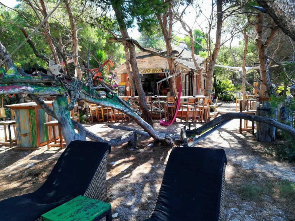Jerolim, Hvar town, Hvar, beach bar, cosy, cafe, Croatia, Balkan, Europe, nudism