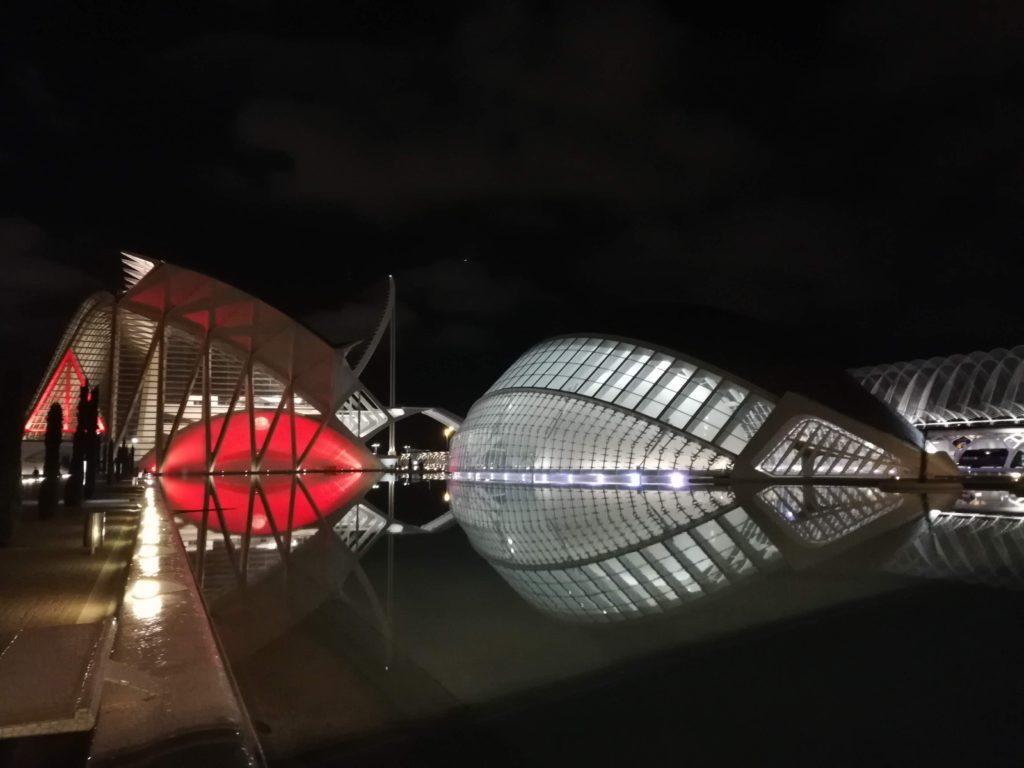 Calatrava, CAC, Ciudad de las artes y las ciencias, Valencia, Spain, Iberia, biking, Night time in Valencia, valencia night.