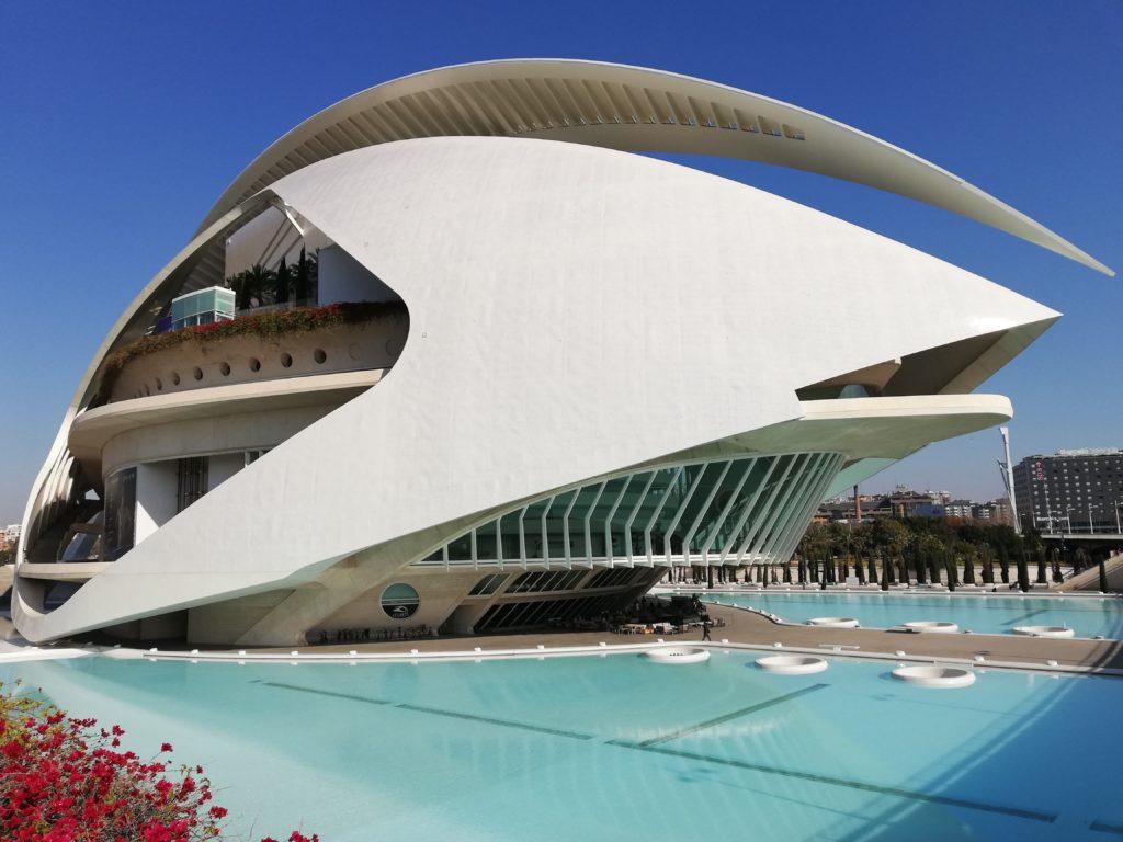 Calatrava, CAC, Ciudad de las artes y las ciencias, Valencia, Spain, Iberia, biking, El Palau de las Arts reina Sofia