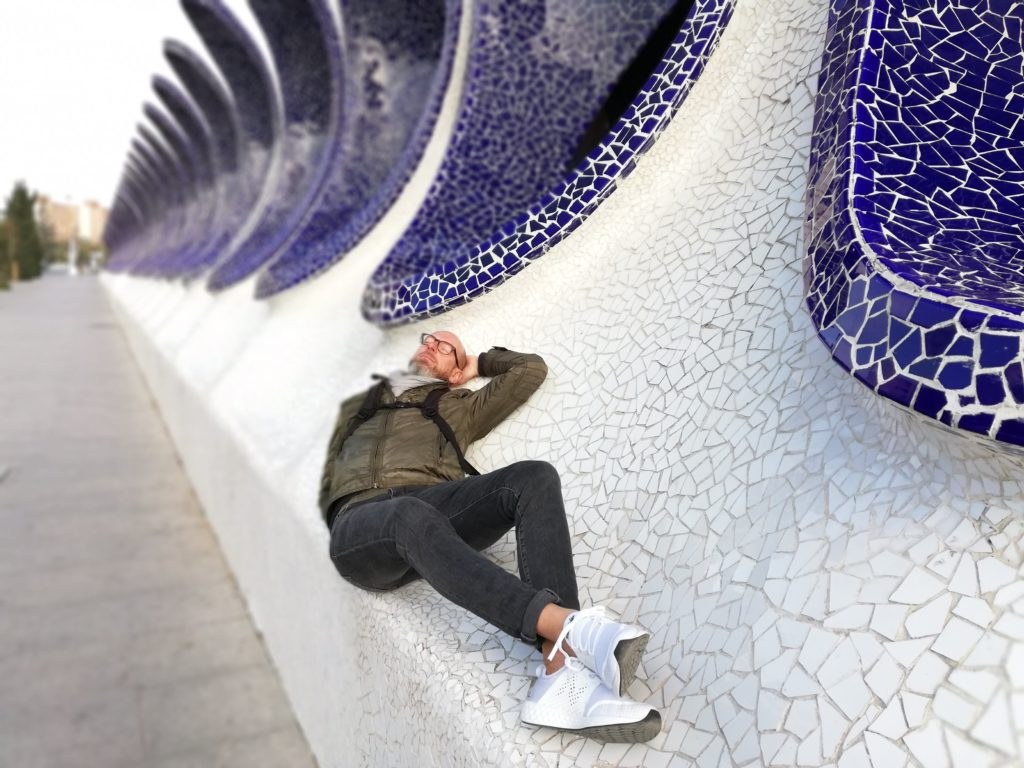 Calatrava, CAC, Ciudad de las artes y las ciencias, Valencia, Spain, Iberia, biking, nap, rest,
