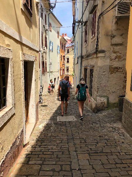 Piran street Slovenia