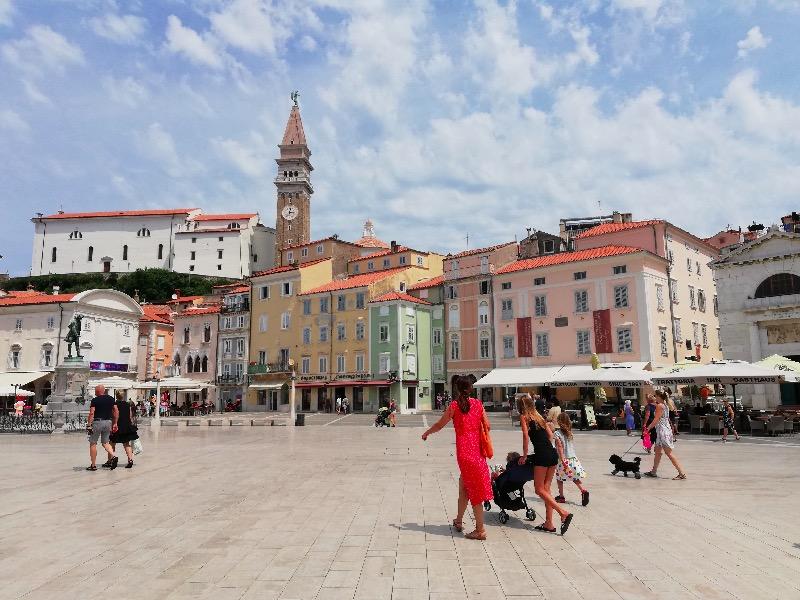Tartini square Piran Slovenia, Tartini, Slovenia