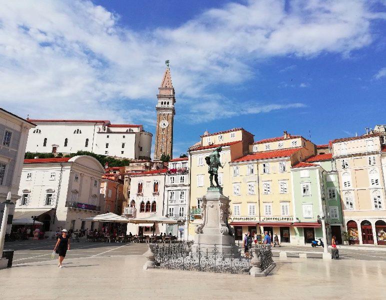 Slovenia, Piran town square7