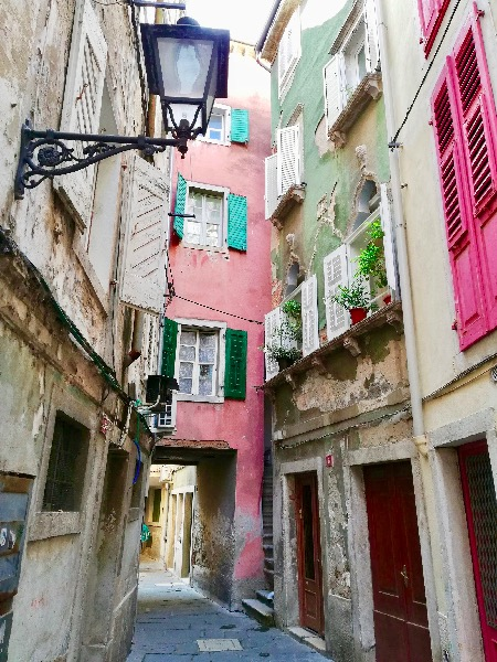 Pastel color, Old town, Piran Slovenia