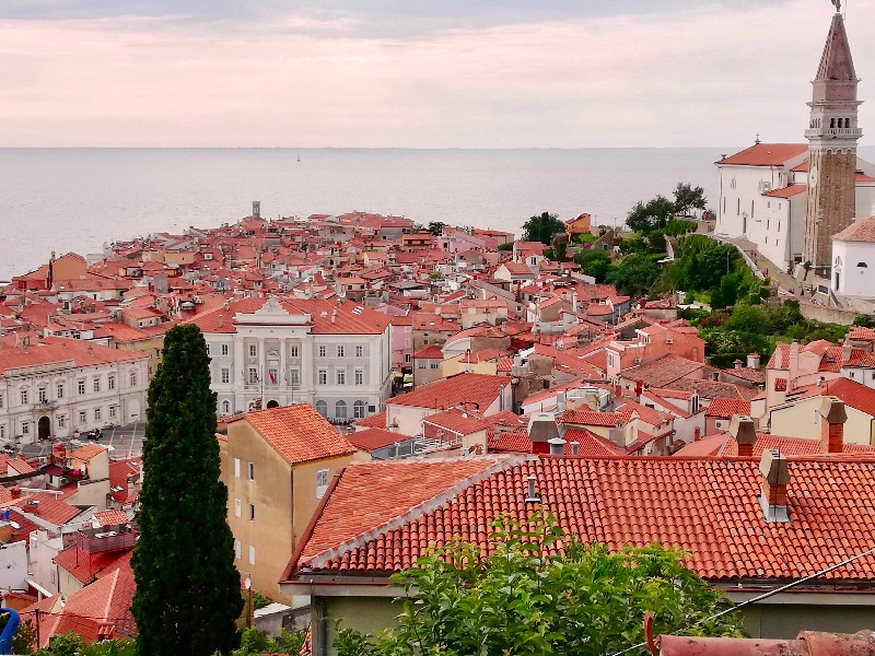 Red tiles, Piran Slovenia