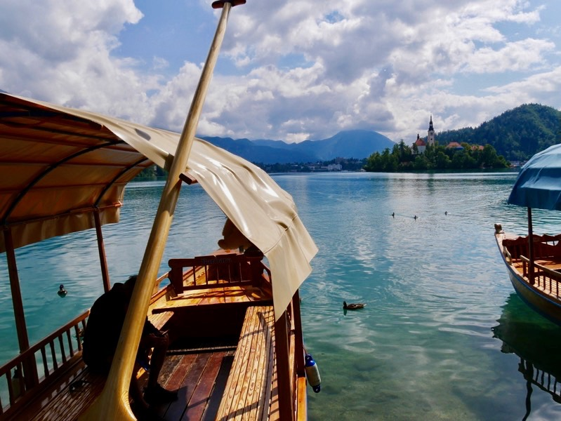 Pletna, Lake Bled Slovenia, Rowing boat, lake