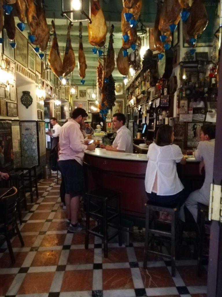 Sevillian Tapas bar. Tapas Bar. Seville
