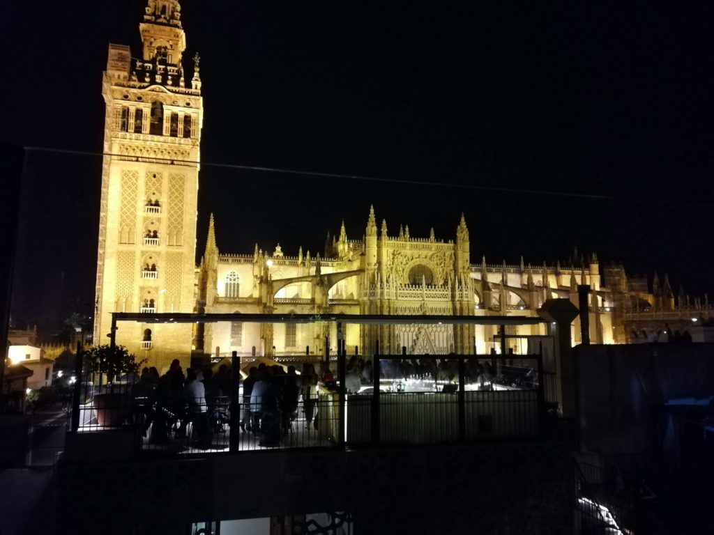 Rooftop bar, Cathedral view, Seville
